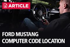 Ford Mustang Computer Code Location