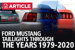 Ford Mustang Tail Lights Through The Years (1979-2020)