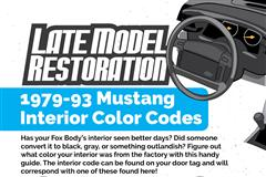 Fox Body Interior Color Codes Guide