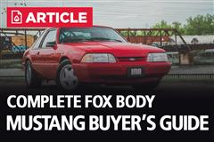 Fox Body Mustang Buyers Guide
