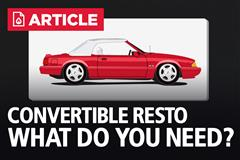 Fox Body Mustang Convertible Restoration Guide