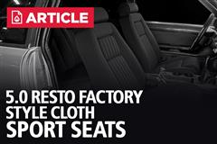 Fox Body Mustang Factory Style Sport Seats | 5.0 Resto Product Highlight