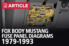 Fox Body Mustang Fuse Panel Diagrams | 1979-1993