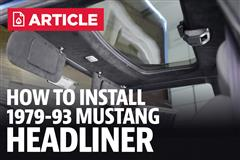 How To Install Fox Body Mustang Headliner (79-93)