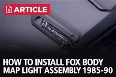 Fox Body Mustang Map Light Assembly Review & Install (1985-1991)