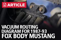 Fox Body Mustang Vacuum Routing Diagram