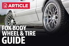 Fox Body Mustang Wheel & Tire Guide