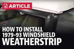 How To: Install Fox Body 5.0Resto Windshield Weatherstrip Pair