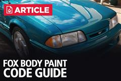 Fox Body Paint Code Guide