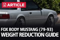 Fox Body Weight Reduction Guide