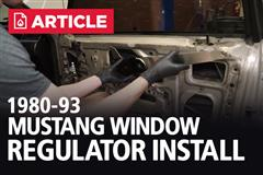 Fox Body Window Regulator Install
