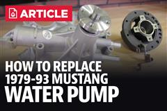 Fox Body Water Pump Replacement