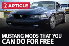 Free Mods For Your Ford Mustang