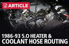 Heater Hose And Coolant Hose Routing (1986-1993)