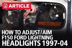 How To Adjust/Aim F150 Ford Lightning Headlights (97-04)