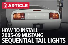 How To Install 05-09 Mustang Sequential Tail Light
