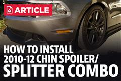 How To Install Mustang Chin Spoiler/Splitter Combo