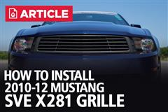 How To Install 2010-12 Mustang SVE X281 Grille