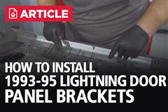 How To Install 93-95 Lightning Door Panel Brackets