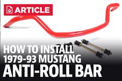 How To Install Fox Body Mustang Anti Roll Bars