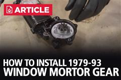 How To Install Fox Body Mustang Window Motor Gear (79-93)