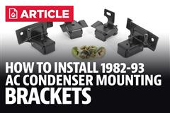 How To Install Mustang A/c Condenser Mounting Brackets (82-93)
