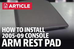 How To: Install Mustang Center Console Arm Rest Pad (05-09)
