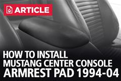 How To Install Mustang Center Console Armrest Pad (94-04)