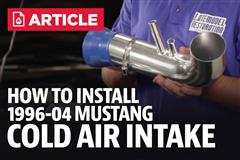How To Install Mustang Cold Air intake