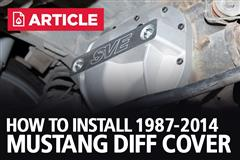How To Install Mustang Differential Cover