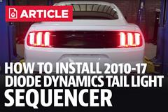 How To: Install Mustang Diode Dynamics Tail Light Sequencer (10-17 All)
