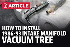 How To Install Mustang Intake Manifold Vacumm Tree (86-93)