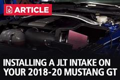 How To Install Mustang GT JLT Cold Air Intake | 2018-2020