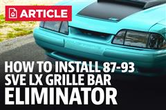 How to Install Mustang LX Grille Bar Eliminator