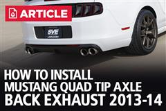 How To Install Mustang Quad Tip Axle Back Exhaust (13-14)