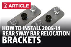 How to Install S197 Mustang Rear Sway Bar Location Brackets