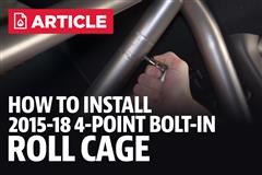 How To Install Mustang Roll Cage (15-18)