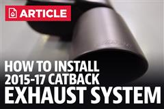 How To Install a Mustang Cat-back Exhaust System (15-17)