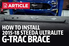 How To Install Mustang Steeda Ultralite 2-Point G-Trac Brace (15-18)