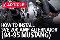 How To Install SVE 200 Amp Alternator | 1994-95 Mustang