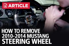 How To Remove 10-14 Mustang Steering Wheel