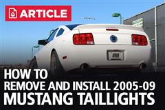 How To Remove 2005-2009 Mustang Tail Lights