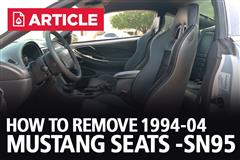 How To Remove 94-04 Mustang Seats | SN95