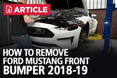 How To Remove Ford Mustang Front Bumper (2018-2019)