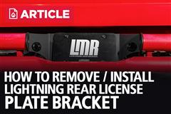 How To Remove/Install Rear License Plate Bracket | 93-95 Lightning