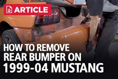 How To Remove Rear Bumper On 99-04 Mustang | New Edge