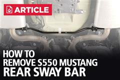 How To Remove S550 Mustang Rear Sway Bar