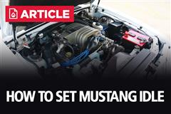 How To Set Mustang Idle