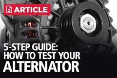 How To Test A Car Alternator: 5 Steps
