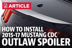 How To Install 2015-18 Mustang CDC Outlaw Spoiler